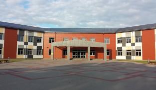 Facade cladding of Kekava school