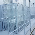 Perdorated galvanized steel