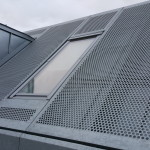 Perforated steel roof