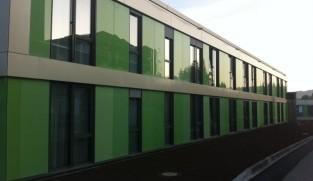 Facade cladding of mental hospital