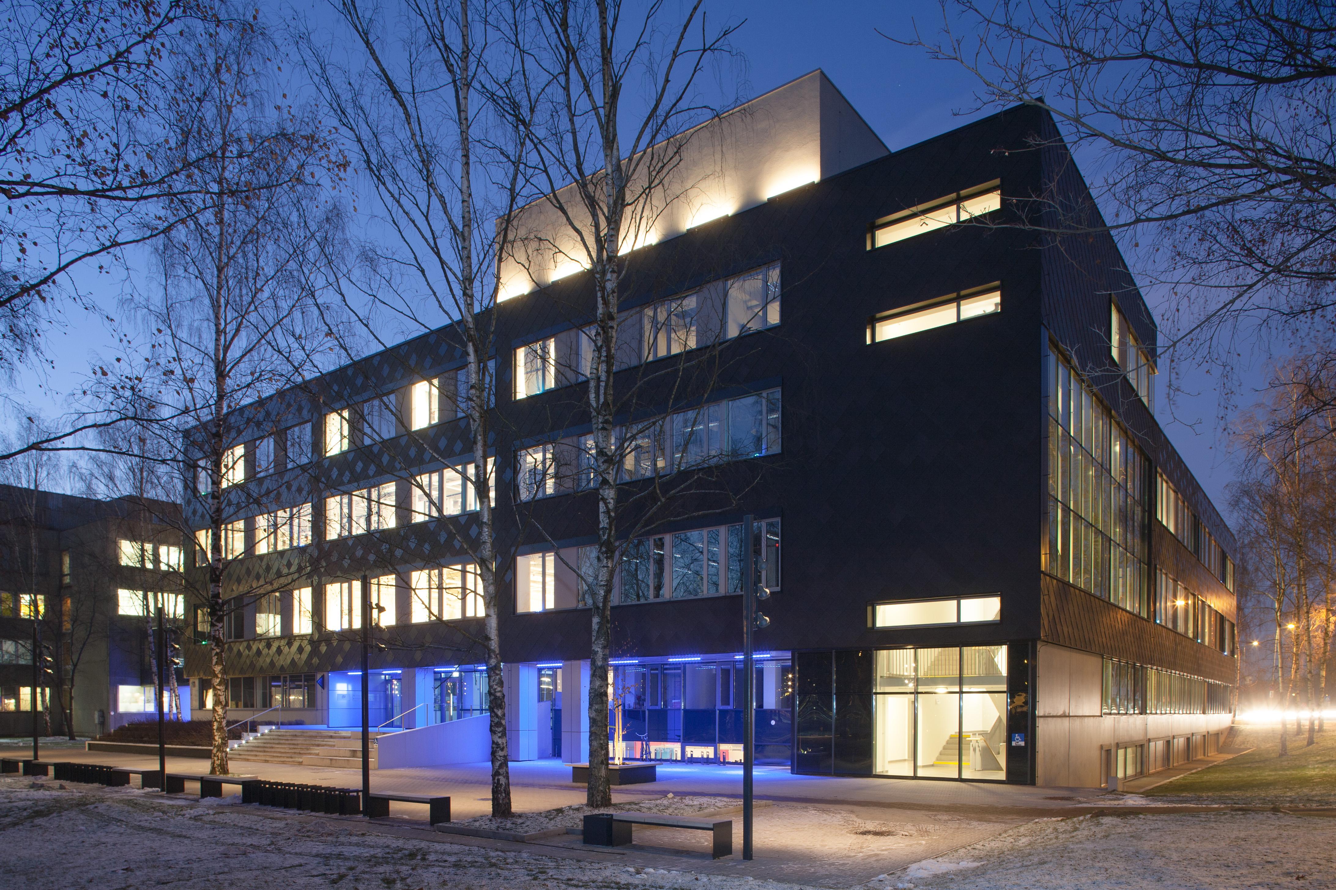 Alumīnija titāncinka fasādes apšuvums RTU Dizaina centrs