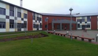 facade cladding of Ķekava school
