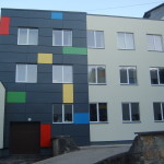 Ogre school facade cladding