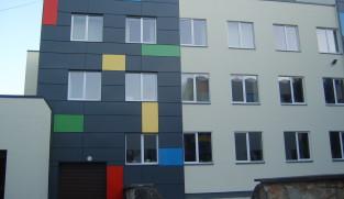 Ogre school facade cladding