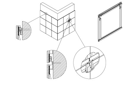 Gh system with concealed fixings