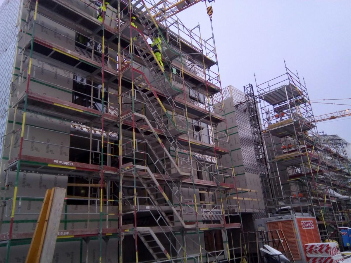 Installation corten steel