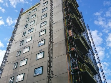Installation of facade cladding